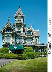 Carson mansion in Eureka California - The Victorian mansion...