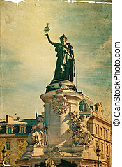 Place de la Republique - The Famous Statue of the Republic...