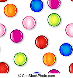 Seamless glossy colorful circle with shadow pattern