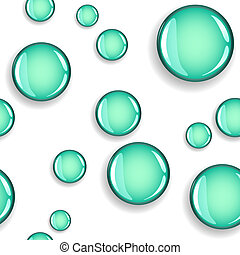 Seamless glossy circles with shadow pattern - Fun seamless...
