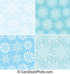 Four winter seamless backgrounds - Four winter seamless...