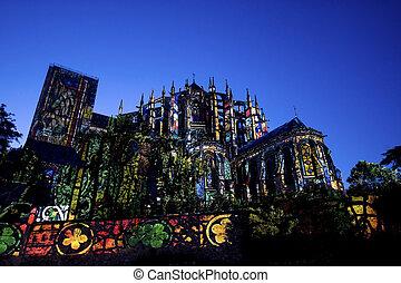 Le Mans Sarthe, Pays de la Loire, France - Gothic cathedral...