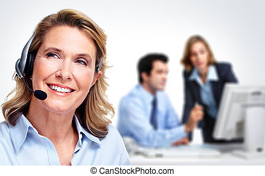 Customer service representative woman. - Customer service...