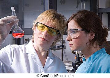 laboratorium, arbete