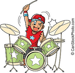 Anime Manga Drummer - Fun anime and manga style cartoon...