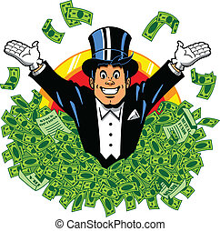 Billionaire - Rich wealthy happy millionaire billionaire...