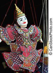 Puppet at Angkor Cambodia - View of a puppet at Angkor,...