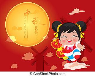 Mid Autumn Festival card - Mid Autumn Festival - (Moon...