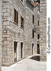 Historic stone homes in Europe