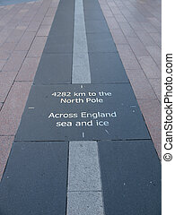 The prime meridian in Greenwich - The prime meridian based...