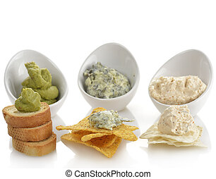Dips With Chips And Toasts - Dips With Corn Chips And Toasts