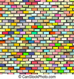abstract rainbow color tiled fragmented exploded backdrop