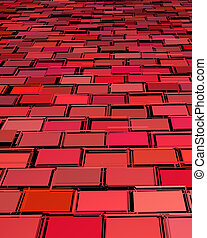 abstract red magenta tiled fragmented exploded backdrop