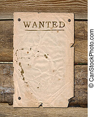 Poster Wanted - Wild West styled poster Place for...