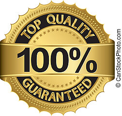 Best quality 100 percent guaranteed golden label, vector
