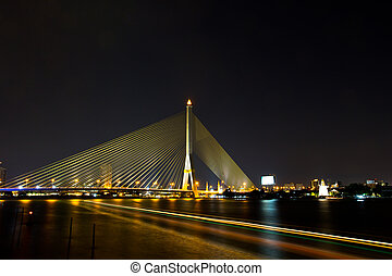 Rama 8 Bridge in bangkok thailand