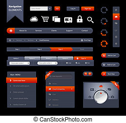 Navigation Elements - This is a set of customizable web...
