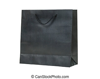 paper bag, black color