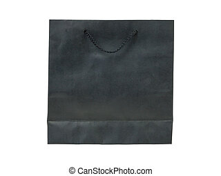 paper bag, black color
