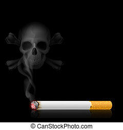 Cigarette and Skull shaped smoke - Skull shaped smoke comes...