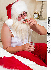 Santa with false teeth - Well Santa is getting older, so...