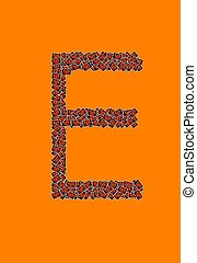 アルファベット, ハロウィーン,  e, 手紙, 幸せ