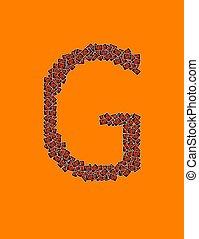 アルファベット, ハロウィーン, 手紙, g, 幸せ