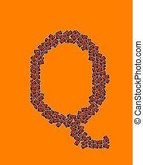 q, 字母表, 万圣節, 信, 愉快