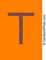 アルファベット, ハロウィーン,  t, 手紙, 幸せ