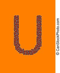 字母表, 万圣節,  U, 信, 愉快