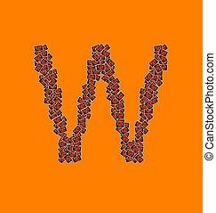 アルファベット, ハロウィーン, 手紙, W, 幸せ