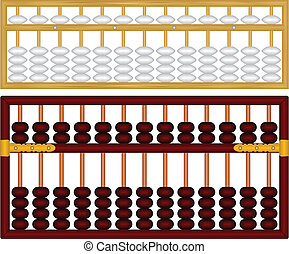Chinese Abacus - Layered Vector Illustration Of Chinese...