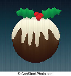 Christmas Pudding in Stripes - A Christmas pudding design...