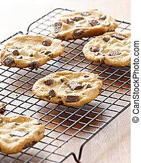 biscoitos, esfriando, esfriando, prateleira