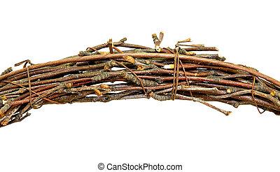 Brushwood - Bundle of brush wood isolated on white