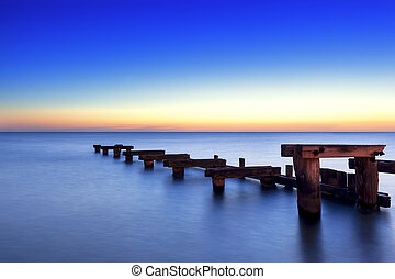 Old Wooden Jetty at Sunset