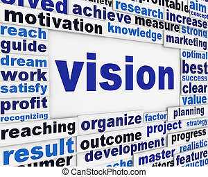 Vision poster conceptual background. Motivation for success...