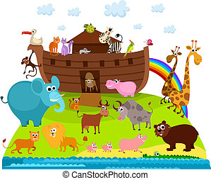Noah's Ark - vector illustration of a Noah's Ark