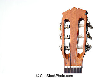 Headstock - Isolated shot of a guitar headstock with copy...