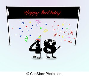 Number 48 Illustrations and Clipart. 28 Number 48 royalty ...