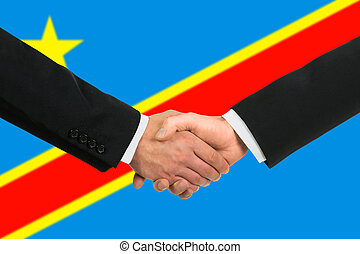 The Democratic Republic of the Congo flag and business...