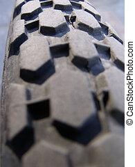 Mountain bike tire - Close up of mountain bike tire