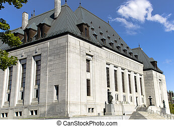 Supreme Court of Canada - A corner view of the Supreme Court...