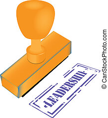 Stamp leadership - Wooden office stamp with imprint - a...