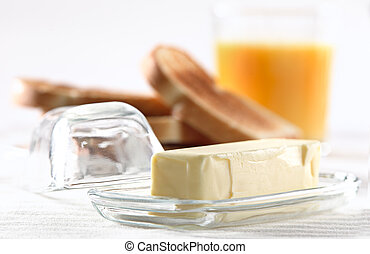 stick of butter at breakfast