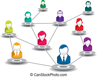 people in social network - vector illustration of people in...
