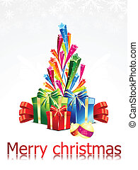 abstract chirstmas background with