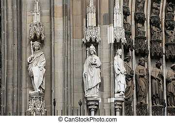 Cologne Cathedral - the south portal of the Cologne...