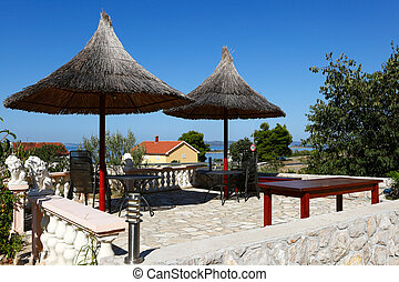 The seaside resort