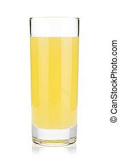 Lemon juice glass Isolated on white background
